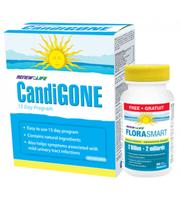 RENEW LIFE CandiGONE kit, 15 days kit + FloraSmart 2 Billion, 30 Tablets (Free) | NutriFarm.ca