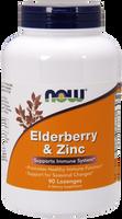 NOW Elderberry and Zinc Plus, 90 Lozenges | NutriFarm.ca