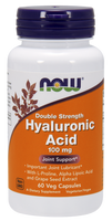 NOW Hyaluronic Acid 100 mg, 60 Vegetable Capsules | NutriFarm.ca