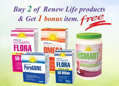 Renew Life Get 2 items and 1 bonus item | NutriFarm.ca