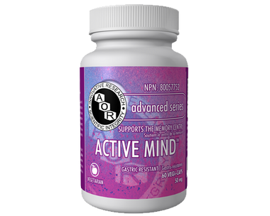 AOR Active Mind, 60 Vegetable Capsules | NutriFarm.ca