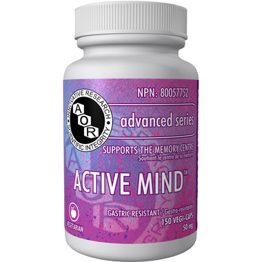 AOR Active Mind, 150 Vegetable Capsules   NutriFarm.ca