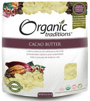 Organic Traditions Cacao Butter, 227 g | NutriFarm.ca