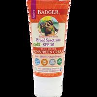 Badger Balms SPF 30 Kids Sunscreen Cream, 87 ml | NutriFarm.ca