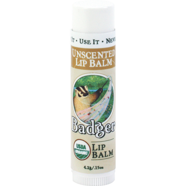 ** Discontinued ** Badger Balms Unscented Lip Balm, 4.2 g | NutriFarm.ca