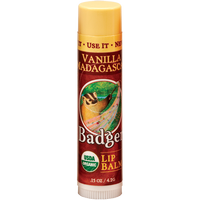 ** Discontinued** Badger Balms Vanilla Madagascar Lip Balm, 4.2 g | NutriFarm.ca