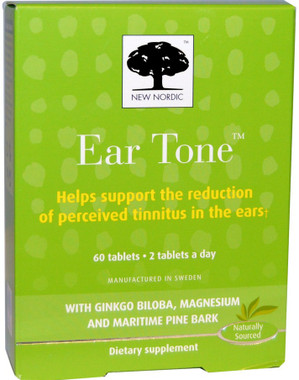 New Nordic Ear Tone, 60 Tablets | NutriFarm.ca