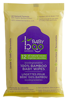 Boo Bamboo Baby Boo Wipes (Travel), 12 wipes | NutriFarm.ca