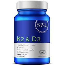 SISU K2 & D3, 60 Vegetable Capsules   NutriFarm.ca