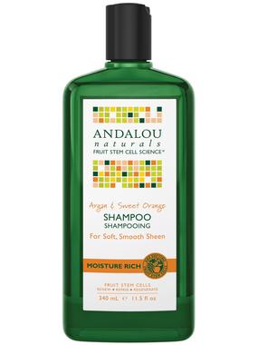 Andalou Naturals Argan & Sweet Orange Shampoo, 340 ml   NutriFarm.ca