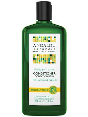 Andalou Naturals Sunflower and Citrus Shine Conditioner, 340 ml | NutriFarm.ca