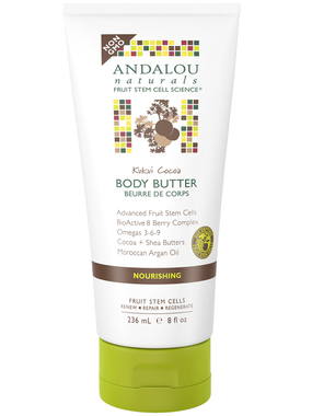 Andalou Naturals Kukui Cocoa Body Butter, 236 ml | NutriFarm.ca