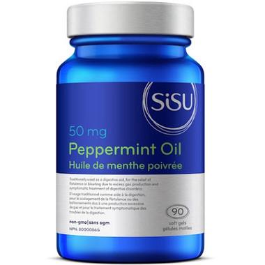 SISU Peppermint Oil 50 mg, 90 Softgels | NutriFarm.ca