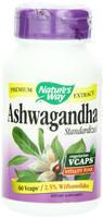 Nature's Way Ashwagandha Standardized, 60 Vegetable Capsules | NutriFarm.ca