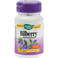 Nature's Way Bilberry Myrtille Standardized, 60 Capsules | NutriFarm.ca