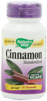 Nature's Way Cinnamon Standardized, 60 Vegetable Capsules | NutriFarm.ca