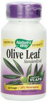 Nature's Way Olive Leaf 20% Oleupein Standardized, 60 Vegetable Capsules | NutriFarm.ca