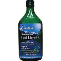 Carlson Laboratories Norwegian Cod Liver Oil, 500 ml | NutriFarm.ca