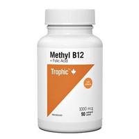 Trophic Methyl B12 with Folic Acid, 90 Tablets   NutriFarm.ca