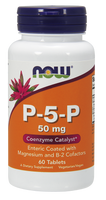 NOW P-5-P 50 mg, 60 Tablets | NutriFarm.ca