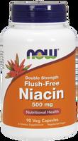 NOW Niacin Flush Free 500 mg, 90 Vegetable Capsules | NutriFarm.ca