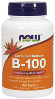 NOW B-100 Sustained Release, 100 Tablets | NutriFarm.ca