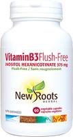 New Roots Vitamin B3 Flush Free 375 mg, 60 Capsules | NutriFarm.ca