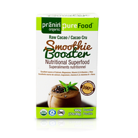 Pranin Organic PureFood Smoothie Booster Raw Cacao, 12 packs of 30 g | NutriFarm.ca