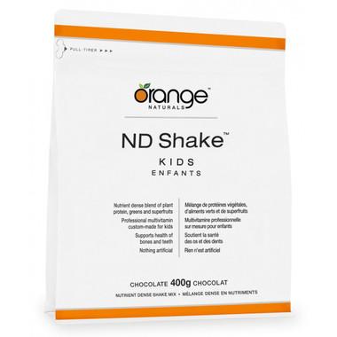 Orange Naturals ND Shake Kids Chocolate, 400 g   NutriFarm.ca