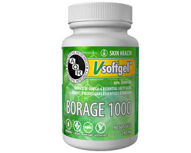 AOR Borage 1000, 90 Softgels | NutriFarm.ca