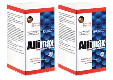 Allimax 100% Stabilized Allicin, 180 Capsules * 2 | NutriFarm.ca