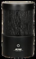 NOW Metal Touch Ultrasonic Essential Oil Diffuser (Black), 1 unit | NutriFarm.ca