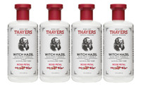 THAYER'S ALCOHOL-FREE TONER WITH ROSE PETAL WITCH HAZEL, 355 ml * 4 | NutriFarm.ca