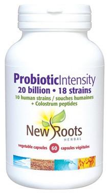 New Roots Probiotic Intensity 20 billion, 60 Capsules | NutriFarm.ca
