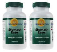 Nature's Harmony Stomach Ease Herbal Laxative, 250 tablets x 2 | NutriFarm.ca