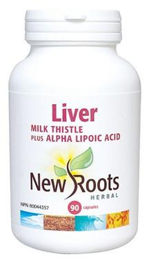 New Roots Liver (Milk Thistle), 90 Capsules   NutriFarm.ca