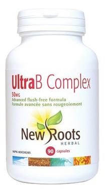 New Roots Ultra B Complex 50 mg, 90 Capsules   NutriFarm.ca