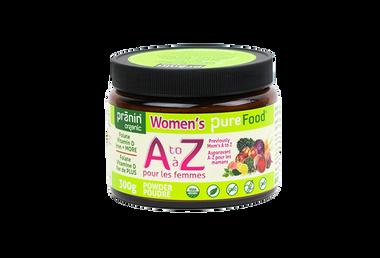 Pranin Women's PureFood A to Z, 300 g | NutriFarm.ca