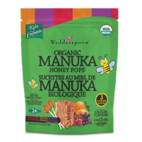 Wedderspoon Organic Manuka Honey Pops Variety Pack, 120 g | NutriFarm.ca