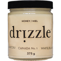 Drizzle Honey White Raw Honey, 375 g | NutriFarm.ca