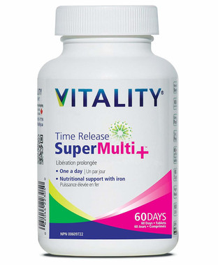 Time Release Super Multi+ 60 Days, 60 tablets | NutriFarm.ca