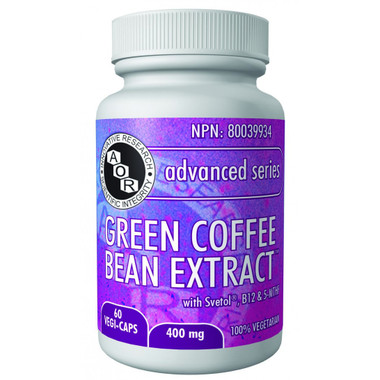 AOR Green Coffee Bean Extract, 60 Vegetable Capsules | NutriFarm.ca
