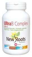 New Roots Ultra B Complex 100 mg, 180 Capsules | NutriFarm.ca