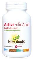 New Roots Active Folic Acid (L-5-Methyltetrahydrofolate), 60 Capsules | NutriFarm.ca