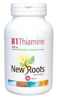 New Roots Vitamin B1 Thiamine 100 mg, 90 Capsules | NutriFarm.ca