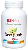 New Roots Vitamin B3 Niacin 100 mg, 90 Capsules | NutriFarm.ca