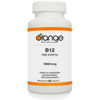 ** Discontinued ** Orange Naturals B12, 90 Tablets   NutriFarm.ca