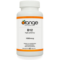 ** Discontinued ** Orange Naturals B12, 90 Tablets | NutriFarm.ca