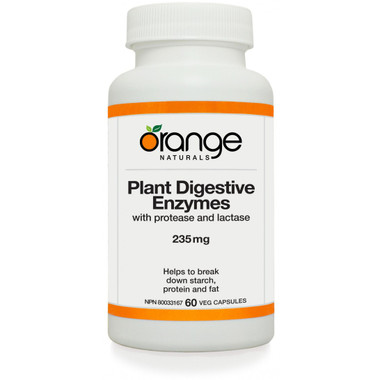 ** Discontinued ** Orange Naturals Plant Digestive Enzymes, 60 Vegetable Capsules | NutriFarm.ca