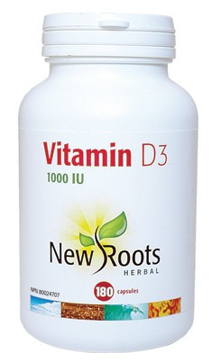 New Roots Vitamin D3, 180 Capsules